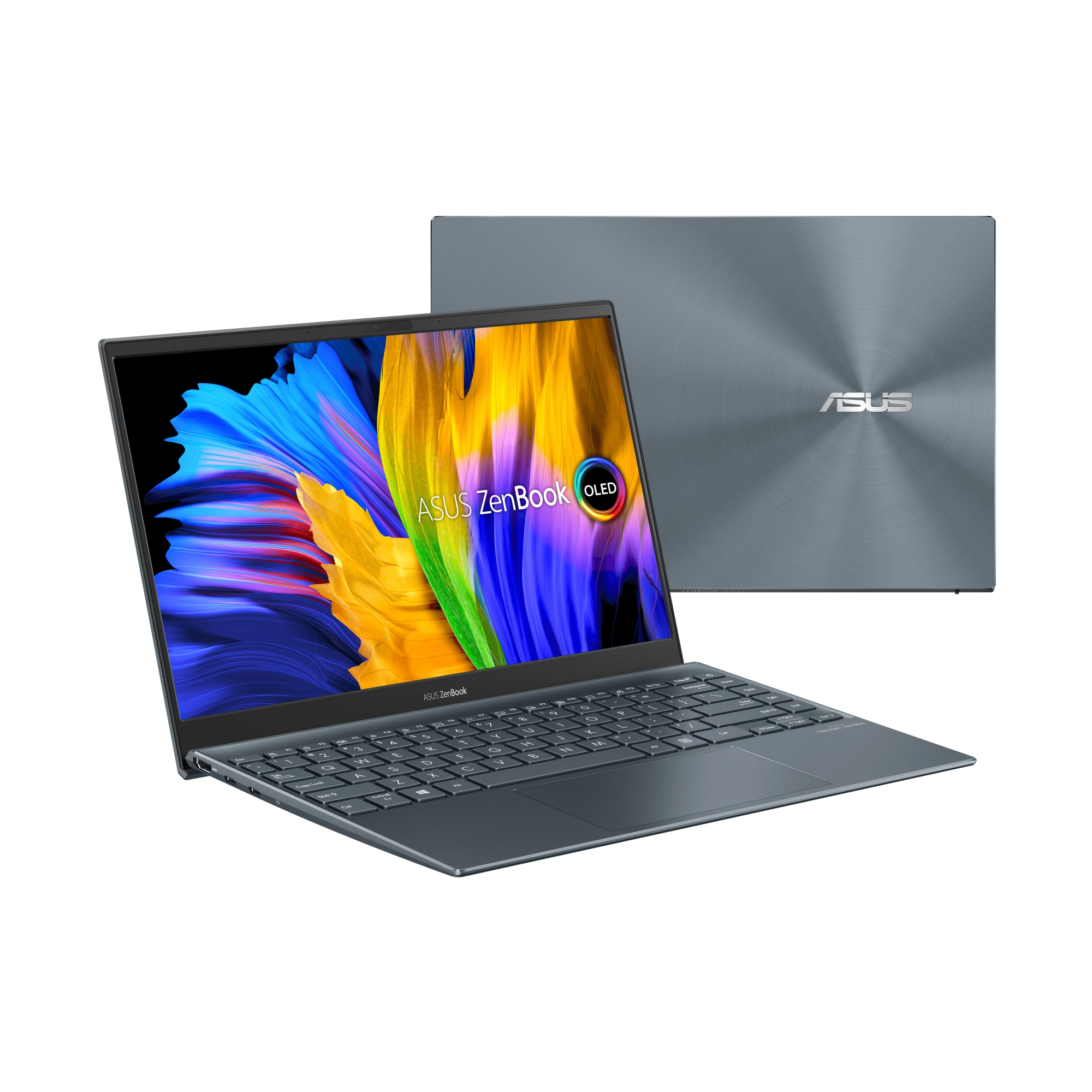 "ZENBOOK 13 OLED UM325UA-KG084 - PORTáTIL DE .3"" FULL HD (RYZEN 7 5700U, 16GB RAM, 512GB SSD, RADEON GRAPHICS, SIN SISTEMA OPERATIVO) GRIS PINO - TECLADO QWERTY ESPAñOL"