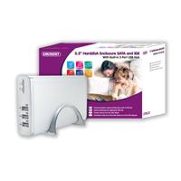 Portable 3.5 Harddisk Enclosure Sata And Ide Gris Usb Con Suministro De Corriente